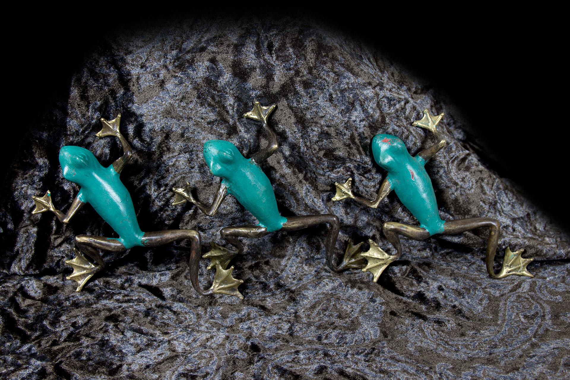 Frosch kriechend, Bronze