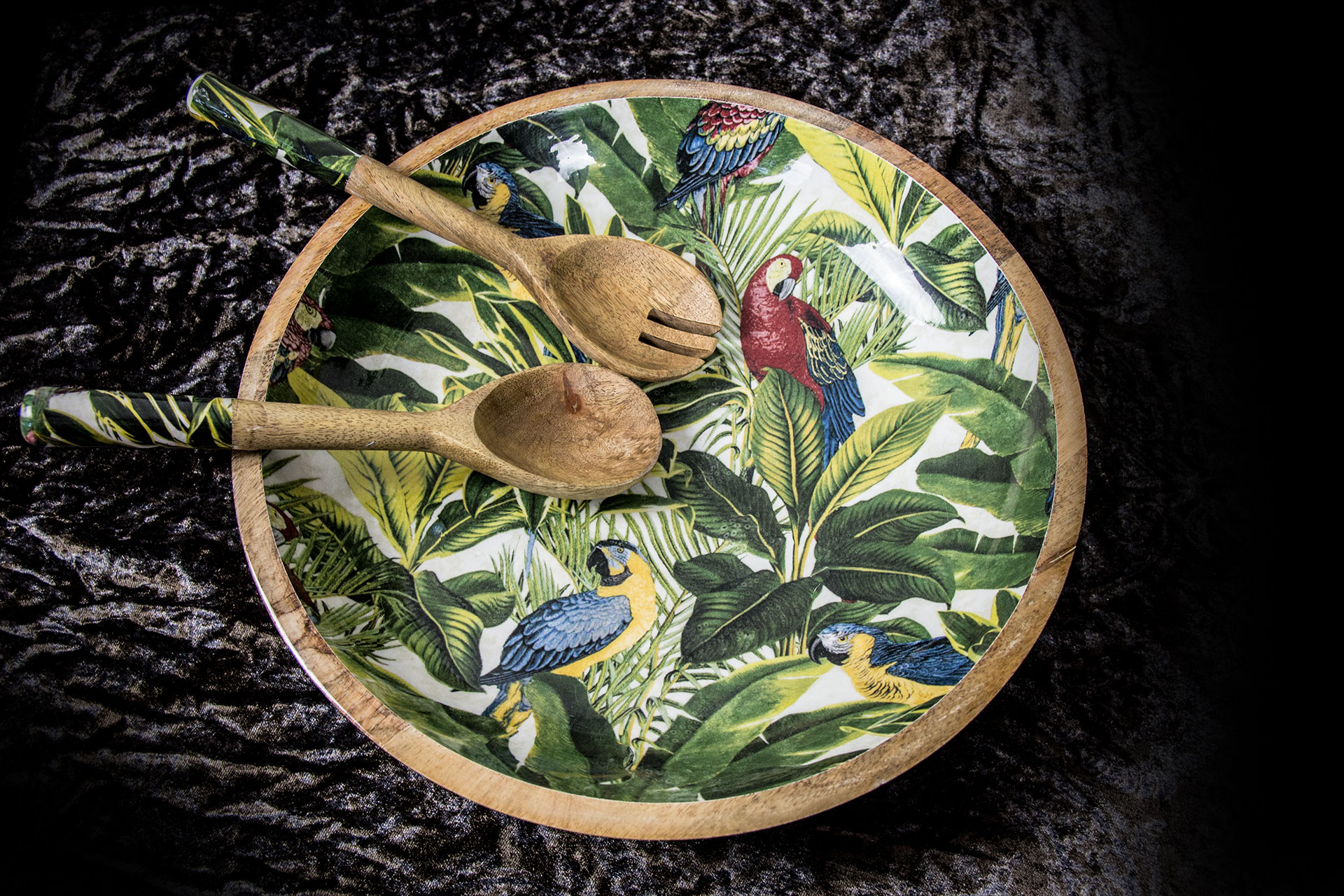 Tropische Deko-Salatschale